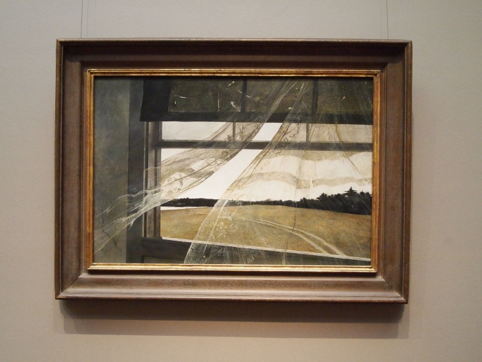 Wind from the Sea, tempera on hardboard (1947) - Andrew Wyeth