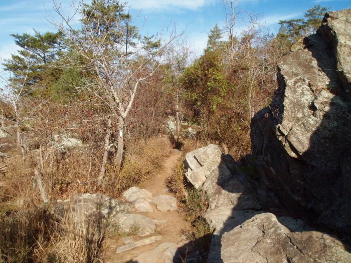 boulders ahead