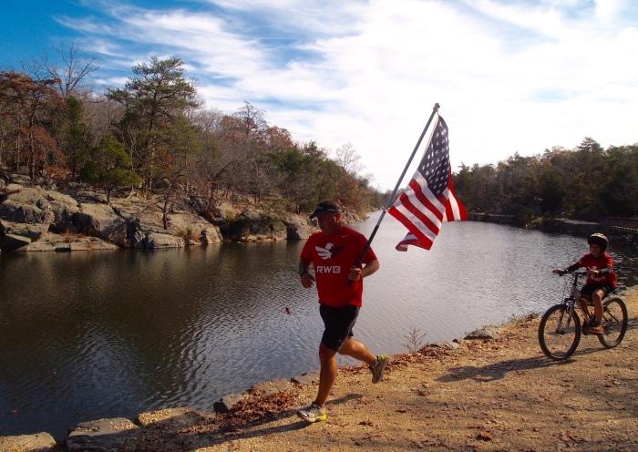 a patriotic runner