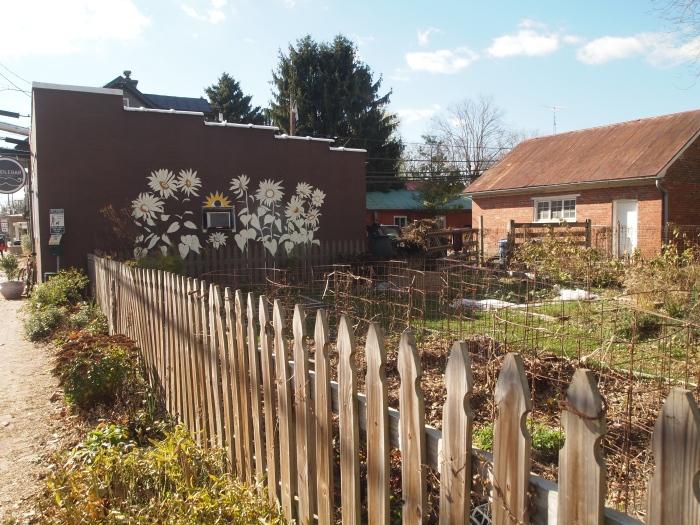 a garden in town