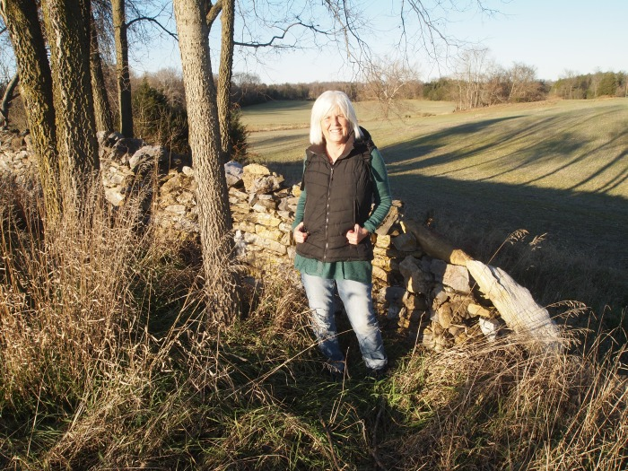 me at the corner leading to the Sunken Road