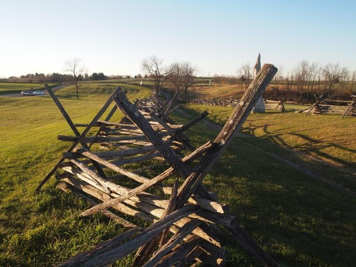 fences along the Bloody Lane
