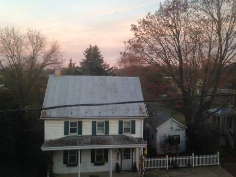 Our view out the window of our room at the Jacob Rohrbach Inn