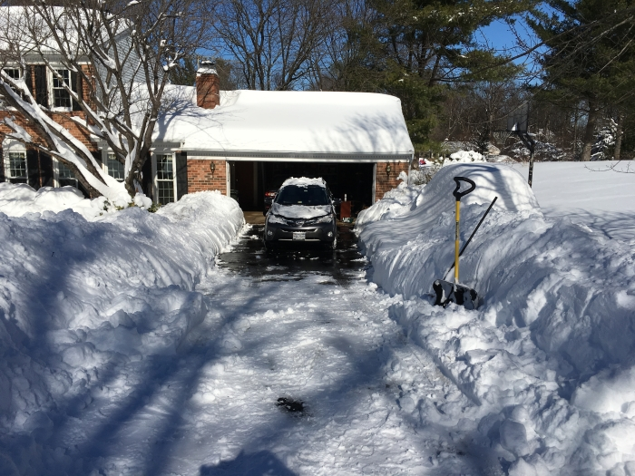 finally - the driveway shoveled out