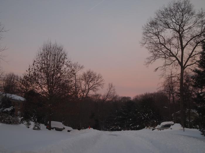 sunrise in the neighborhood