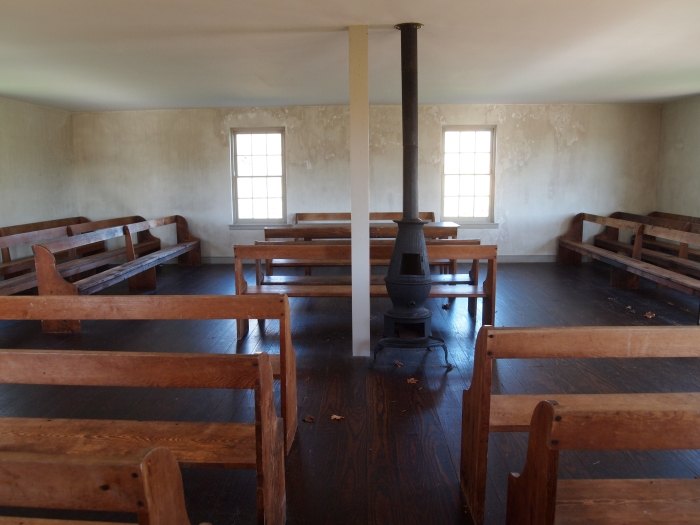 Inside the simple Dunker Church