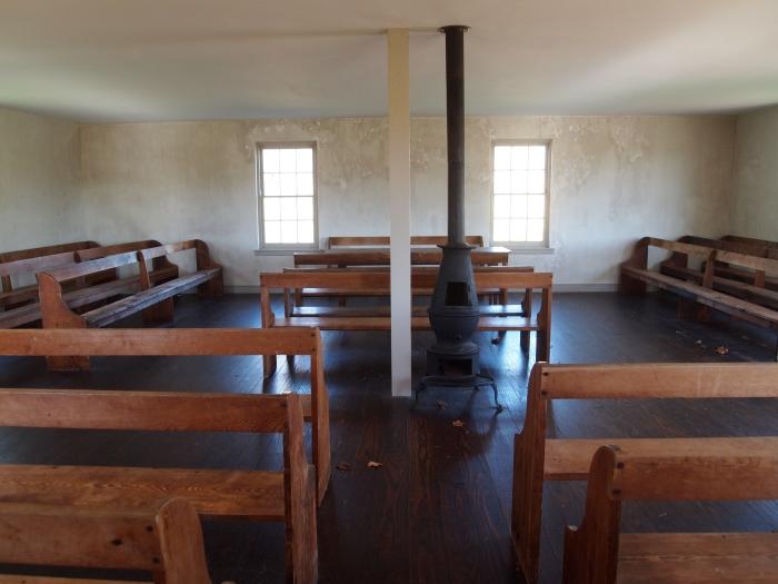 Inside the simple Dunker Church
