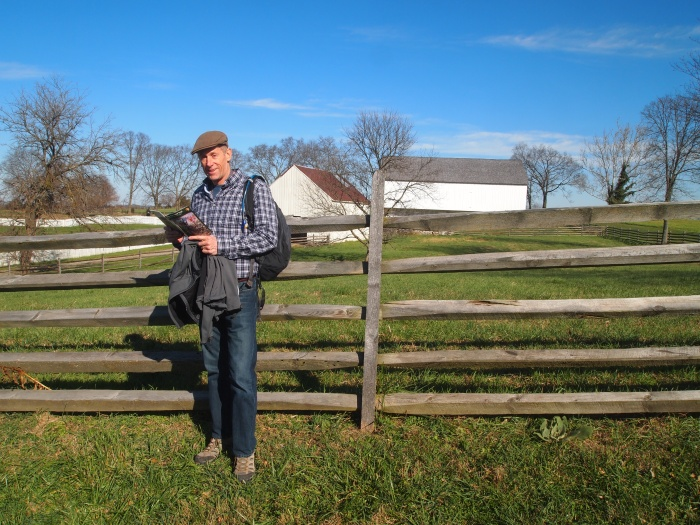 Mike at the J. Poffenberger farm