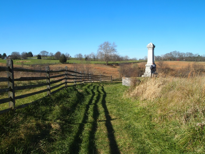 path leading to Otto Lane and the 11th Ohio Monument