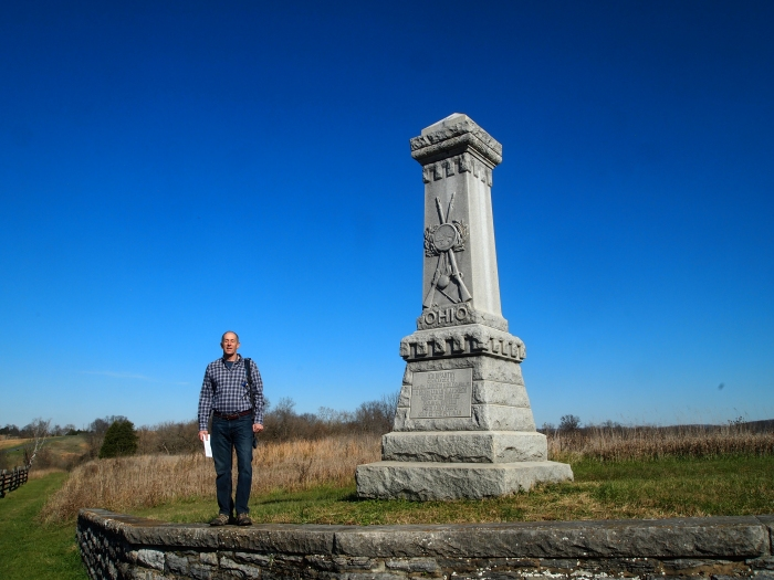 Mike at the 11th Ohio Monument