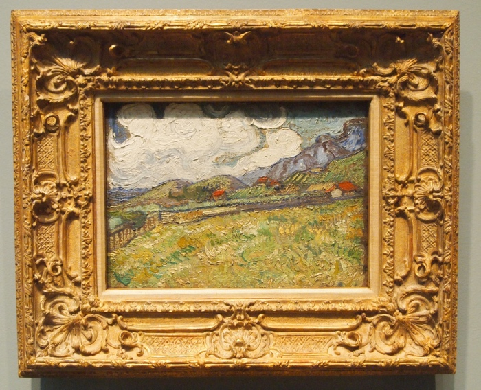 Vincent Van Gogh - The Wheatfield Behind St. Paul's Hospital, St. Remy (1889)