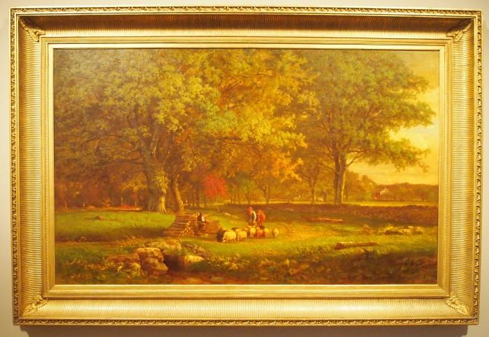 George Inness - Evening, 1863
