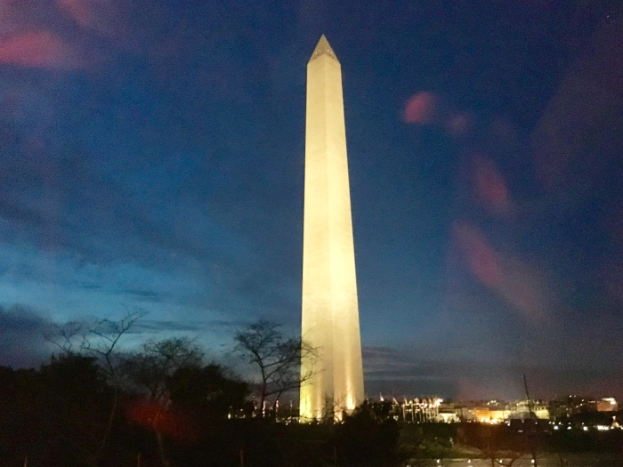 a drive-by of the Washington Monument