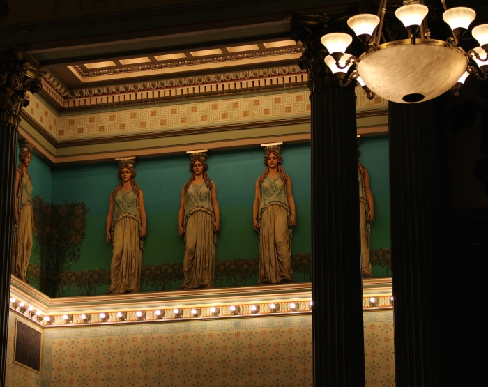 the Grecian-themed Corinthian Hall