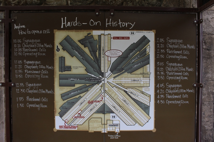 layout of Eastern State Penitentiary