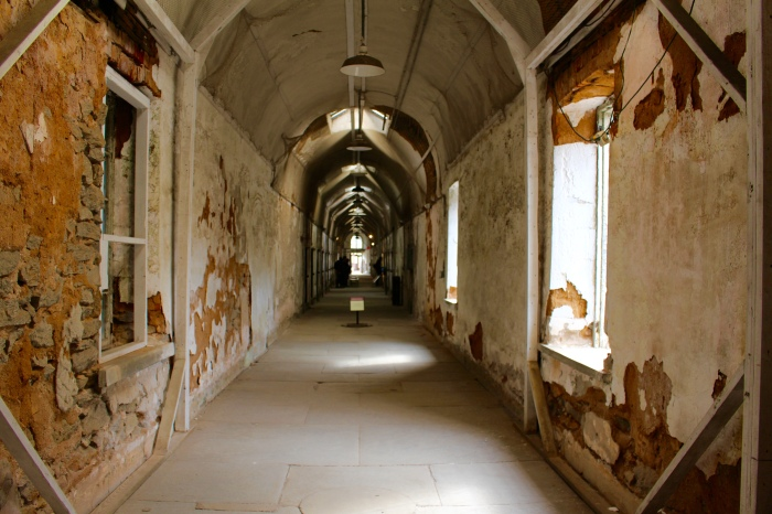 aisle at Eastern State Penitentiary