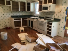 Kitchen demolition begins