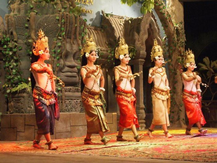 Traditional dancers in Siem Reap, Cambodia