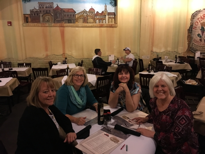 Lunch at Zio's: Louise, Martha, Charlene and me