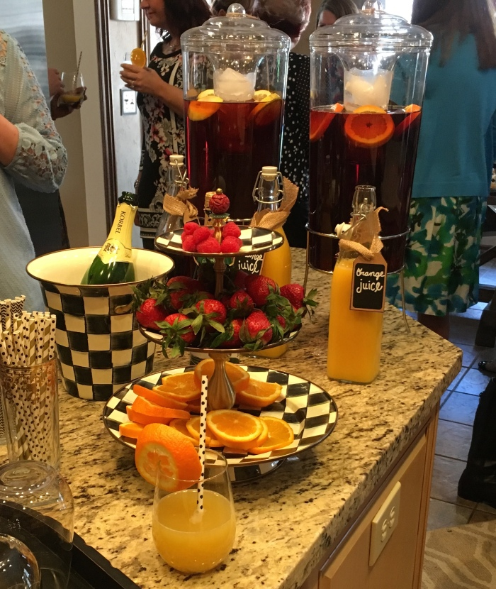 Saturday brunch mimosas