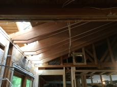 part of the roof is in