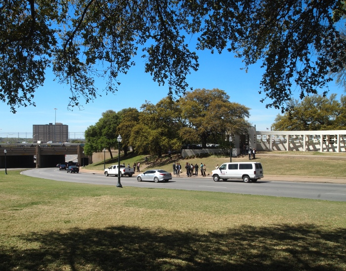 View of the assassination route from Dealey Plaza