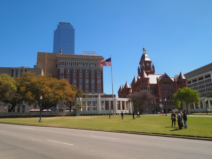 View from the Grassy Knoll to Dealey Plaza