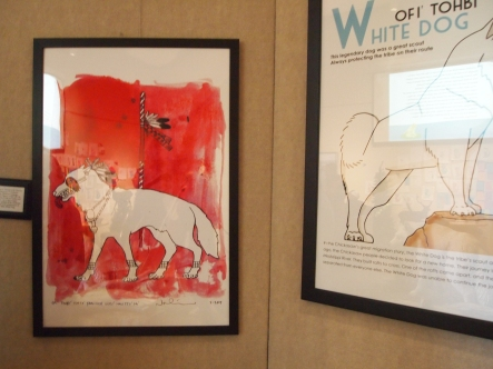 White dog exhibit
