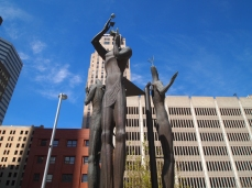 urban sculptures in Oklahoma City