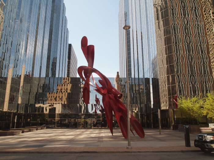 urban sculptures on an urban hike