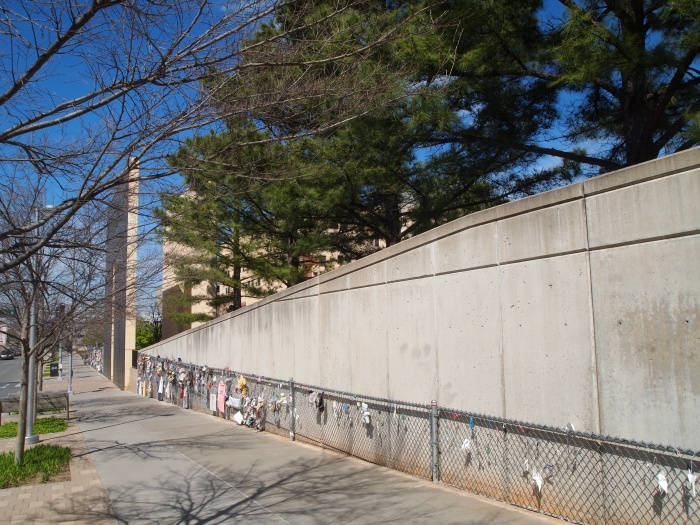 the chain link fence that was the site's first memorial