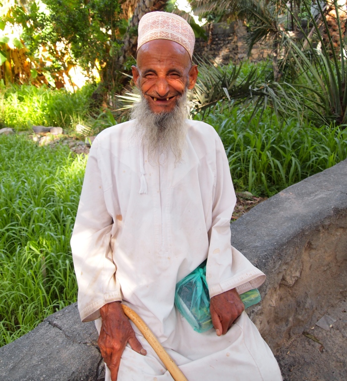 a local man at Misfat Al Abriyyen