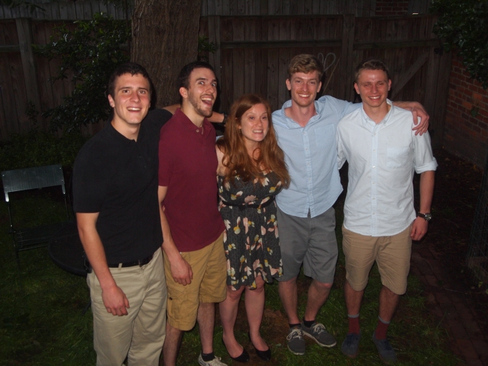 Sarah and her four brothers: Adam, Alex, Nicholas and Cody