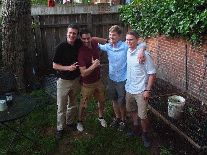the four half-brothers: Adam, Alex, Nicholas and Cody