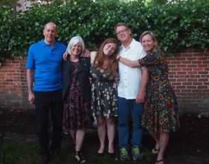 the parents with their graduate: Mike, me, Sarah, Bill and Kema