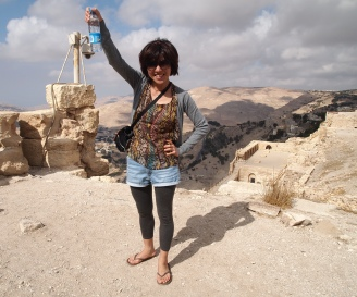 Minako at the Crusader Castle of Karak