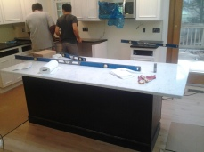 Countertops installed