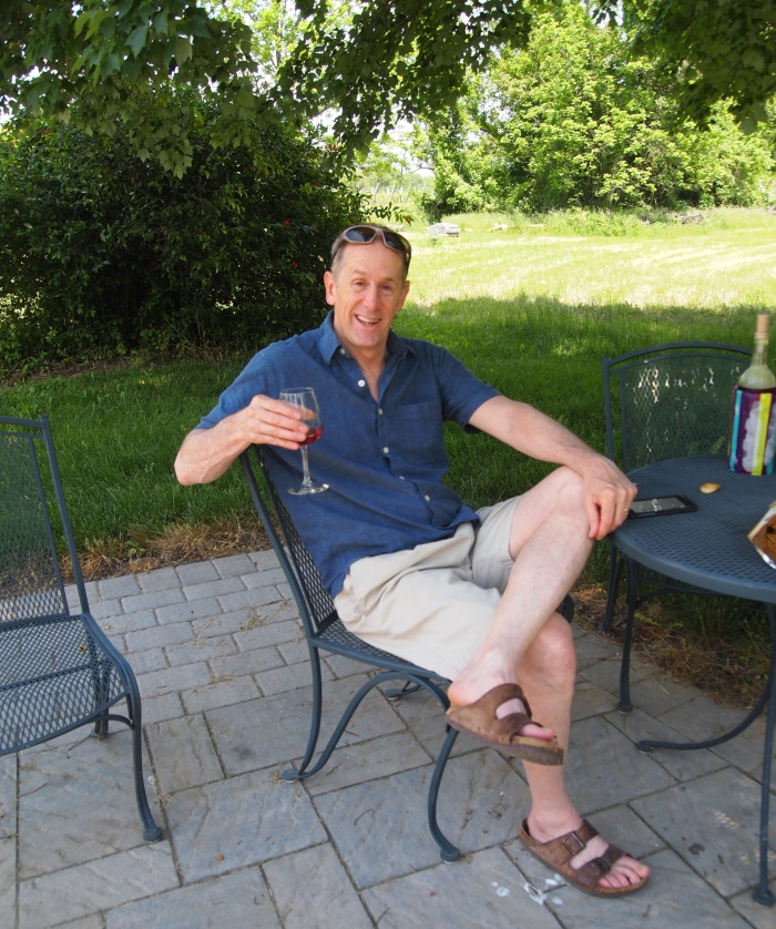 Mike at Hiddencroft Vineyards