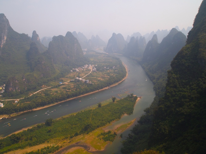 the Li River near Yangshuo, China