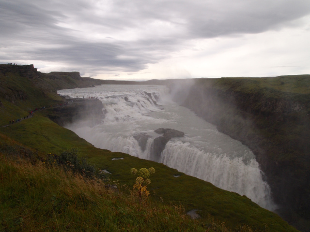 First view of Gullfoss