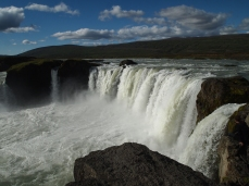 Standing on the edge of Godafoss