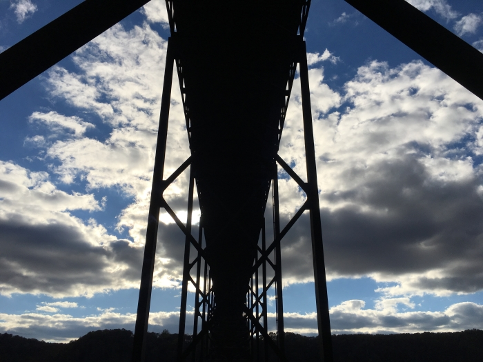 under The New River Gorge Bridge