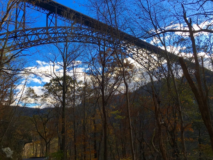silhouette of The New River Gorge Bridge