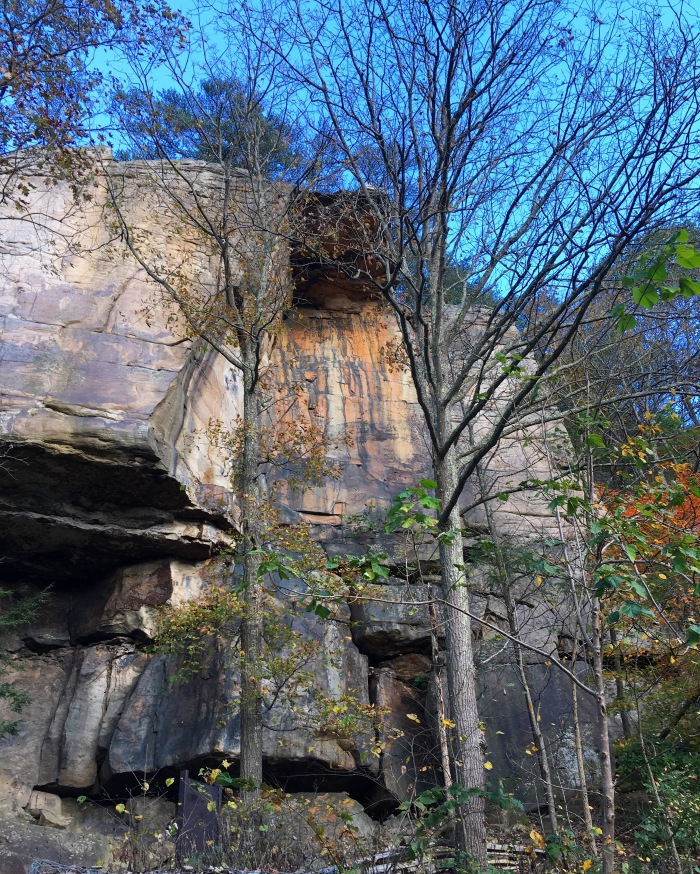 a rock for climbing near the New River Gorge