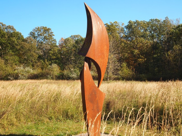 sculpture in the grass