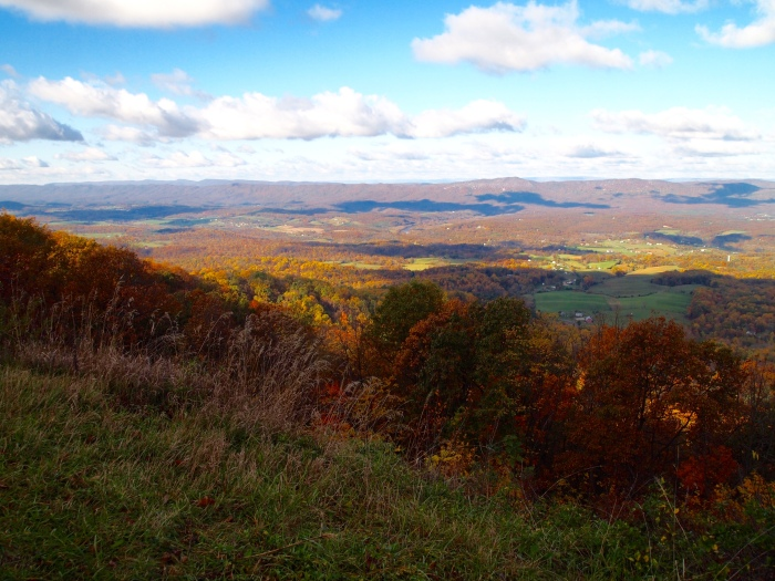 the valley from Skyline Drive