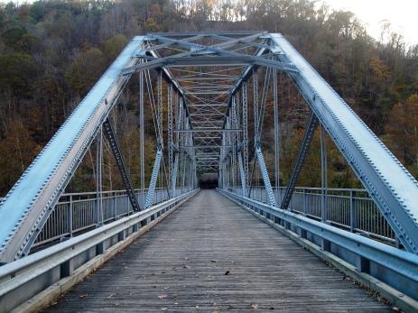 a small bridge over the New River