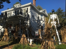 Halloween decorations in Richmond