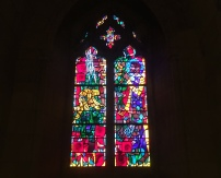 stained glass at the Cathedral
