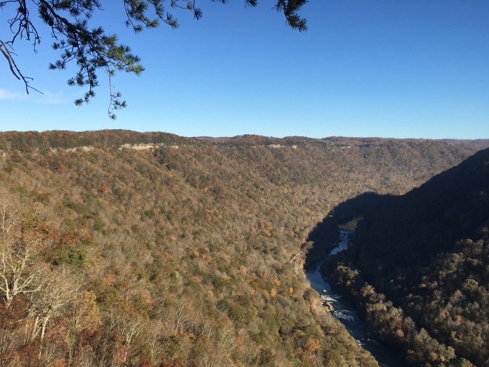 The Endless wall along the New River Gorge